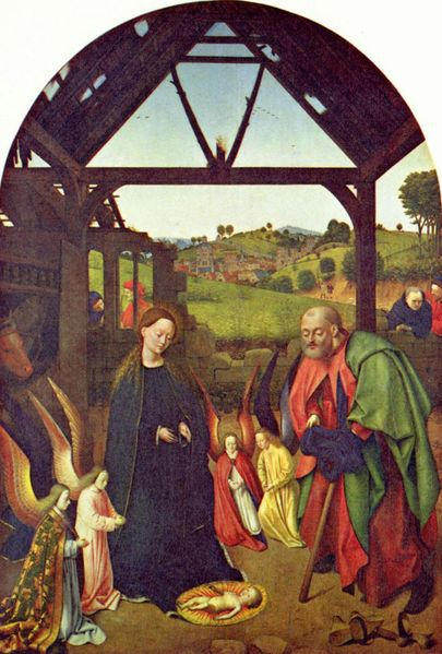 nativity of jesus by christus petrus c 1445 1450 at the national gallery of