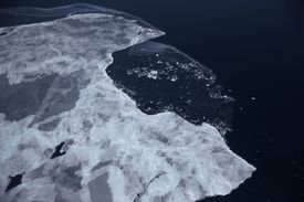 View of Antartica's Ice Mass from NASA space station.