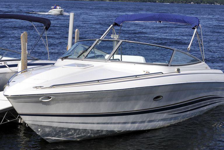 Speedboat in dock