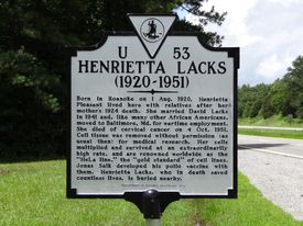Henrietta Lacks historical marker