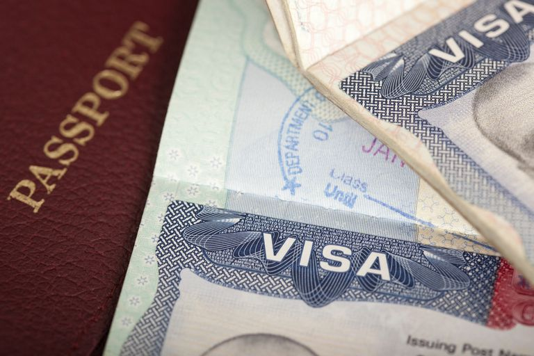 passport and US visa background