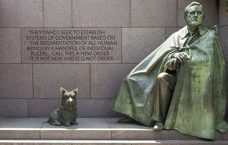 Roosevelt statue, Franklin Delano Roosevelt Memorial, Washington D.C.