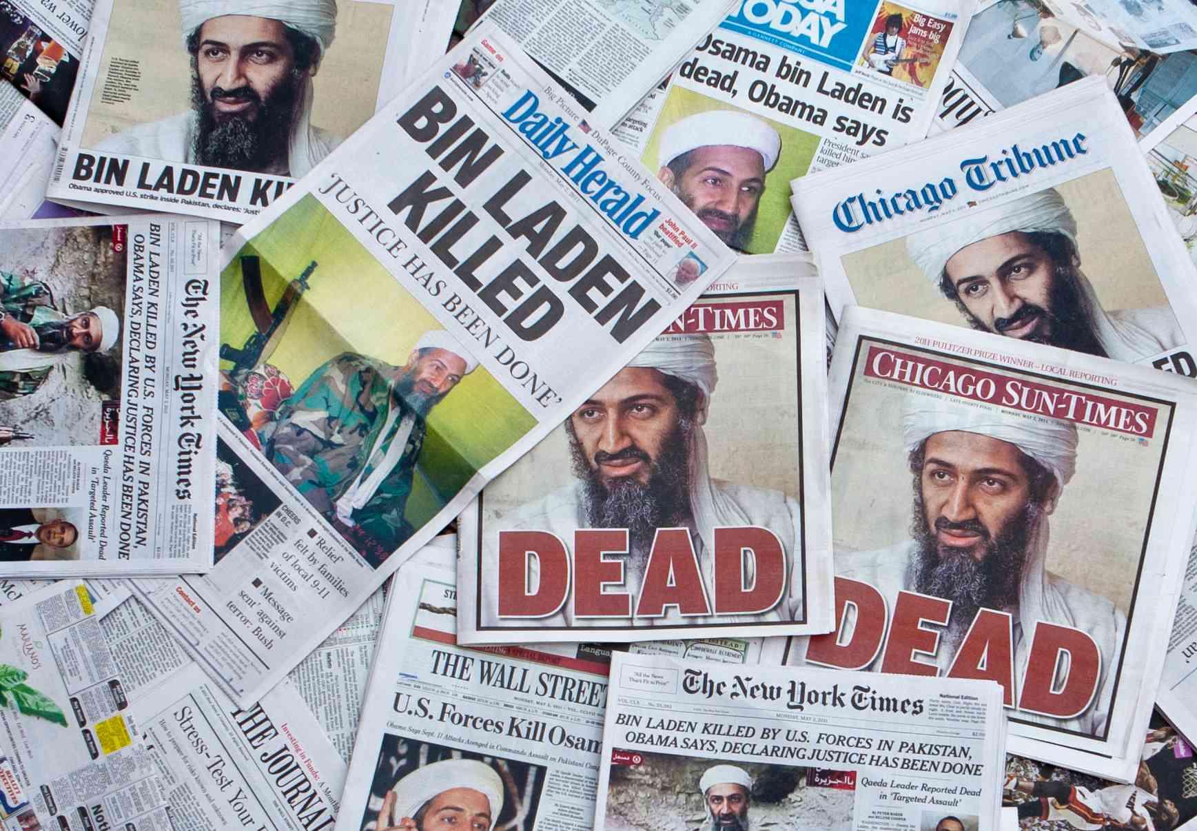 Els titulars del diari Osama Bin Laden Dead