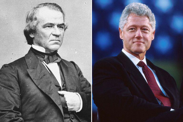 Andrew Johnson and Bill Clinton