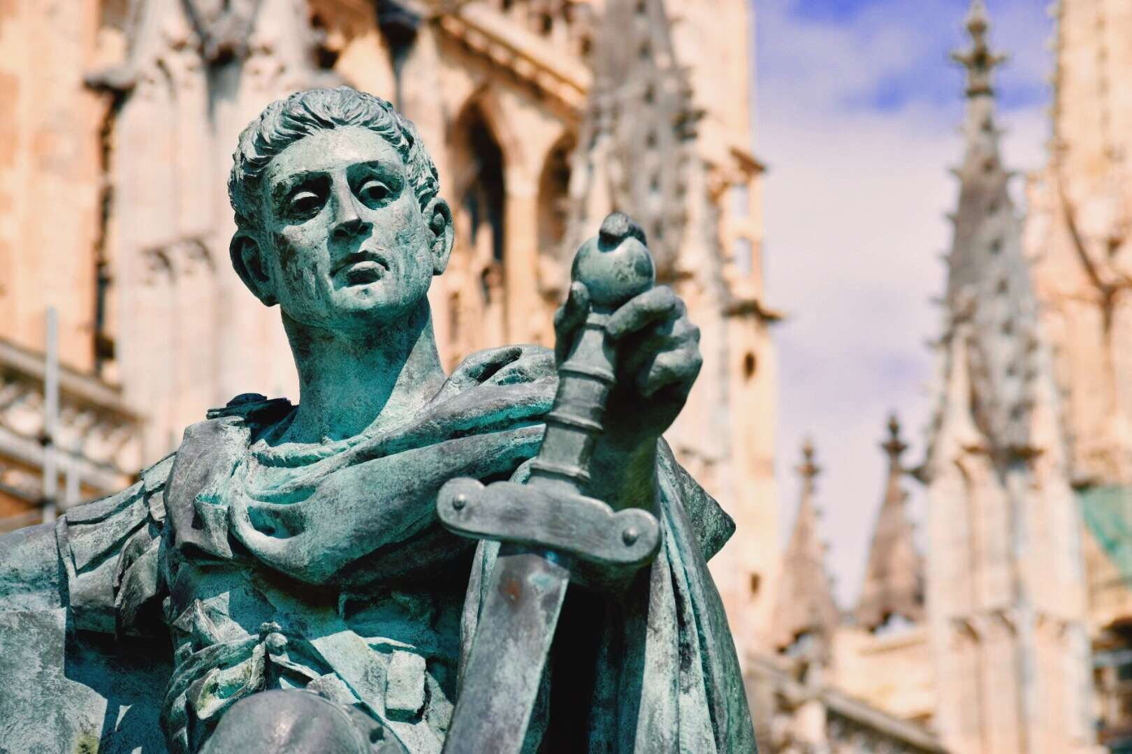 Statue Of Emperor Constantine Outside Cathedral