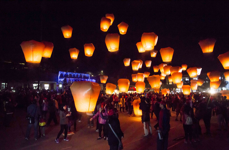 Chinese New Year Mass Lantern Release