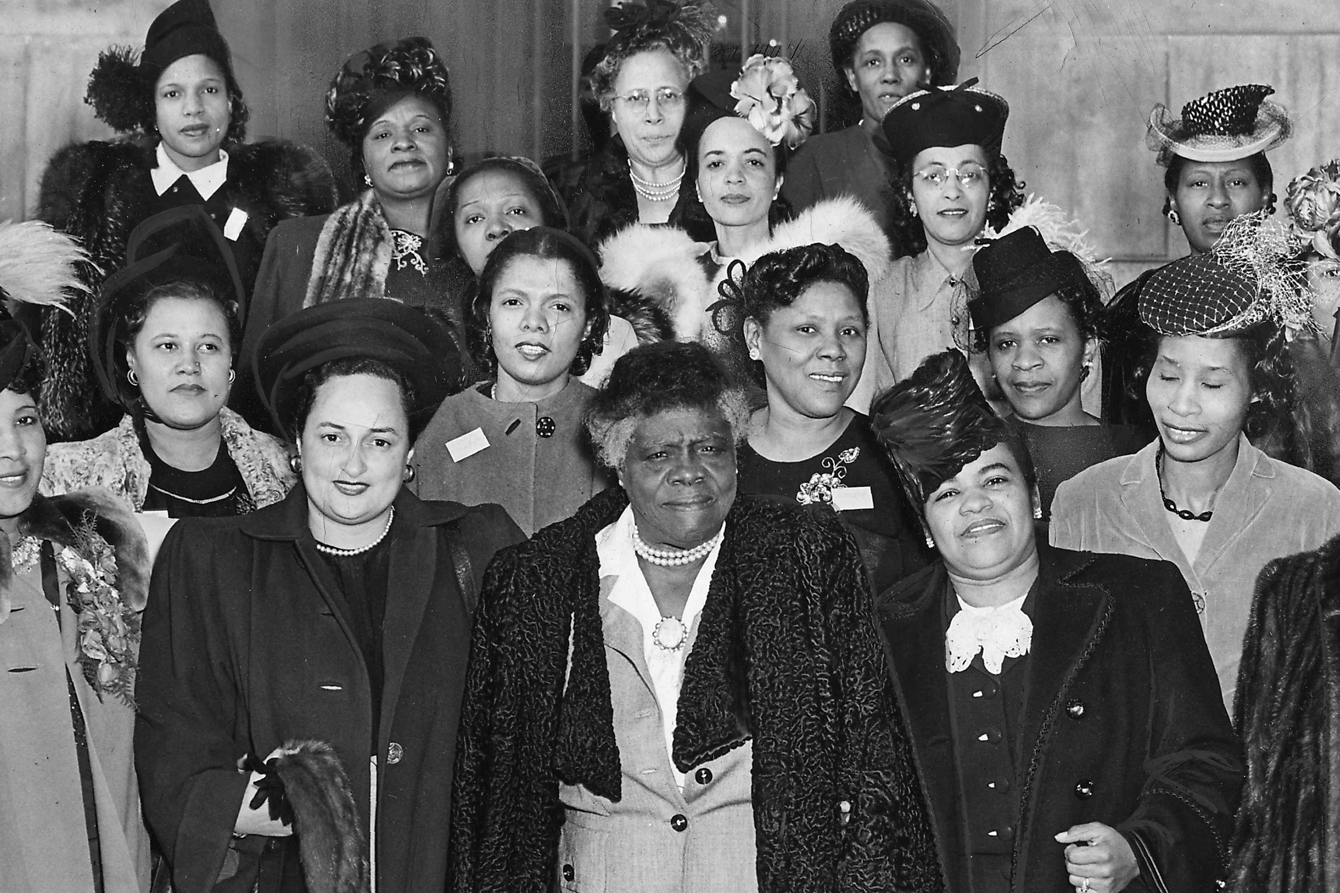 Members of the National Council of Negro Women including founder Dr. Mary McLeod Bethune