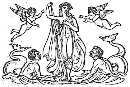 Venus: Göttinnen aus Thomas Keightleys 1852 Die Mythologie des antiken Griechenlands und Italiens.