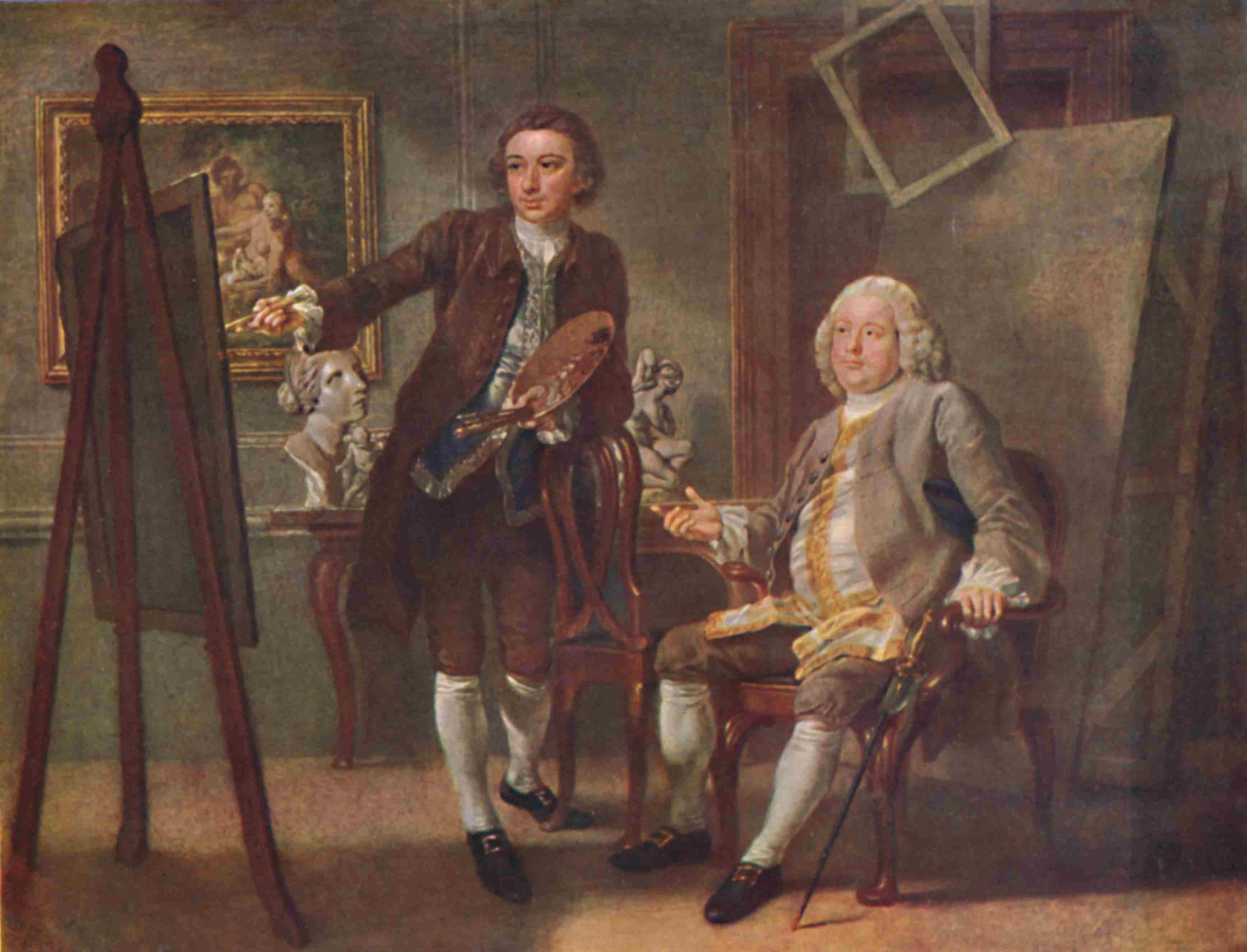 Robert Walpole First Earl Of Orford Kg In The Studio Of Francis Hayman Ra Circa 1748-1750