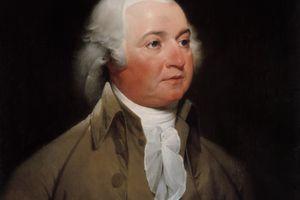 Digitally restored American history painting of President John Adams.