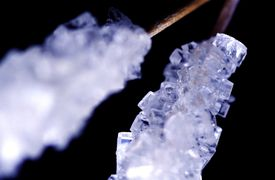 Sugar crystals or rock candy
