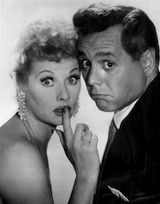 Lucille Ball and Desi Arnaz played Lucy and Ricky Ricardo.