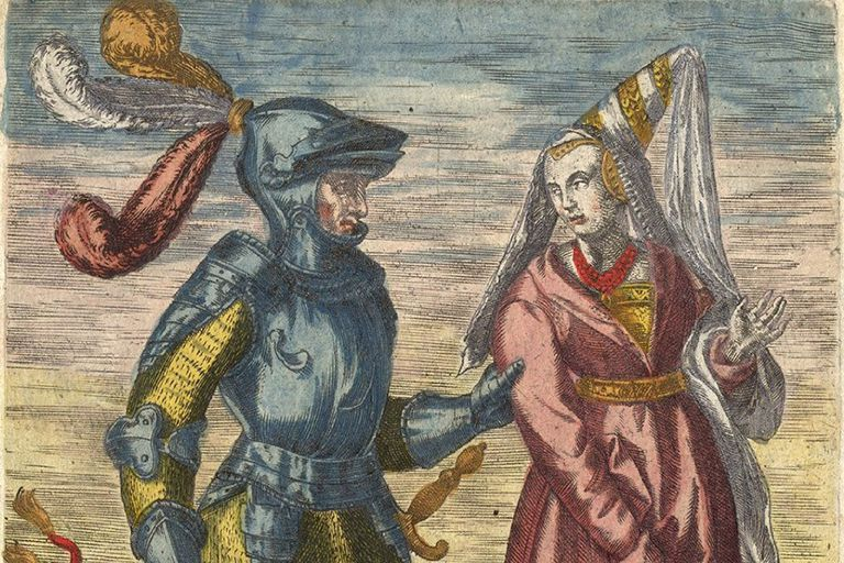 Baldwin I and Judith of France painting