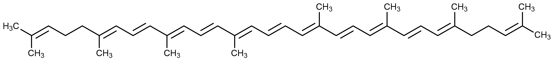 This is the chemical structure of lycopene.
