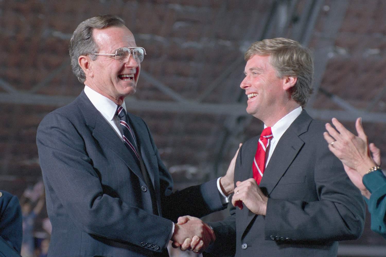 George H.W. Bush and Dan Quayle