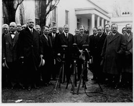 President Hoover with Reconstruction Finance Corporation Members