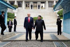 Kim Jong Un with President Trump