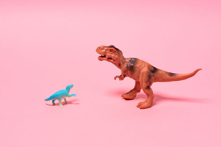 Big and Small Toy Dinosaurs