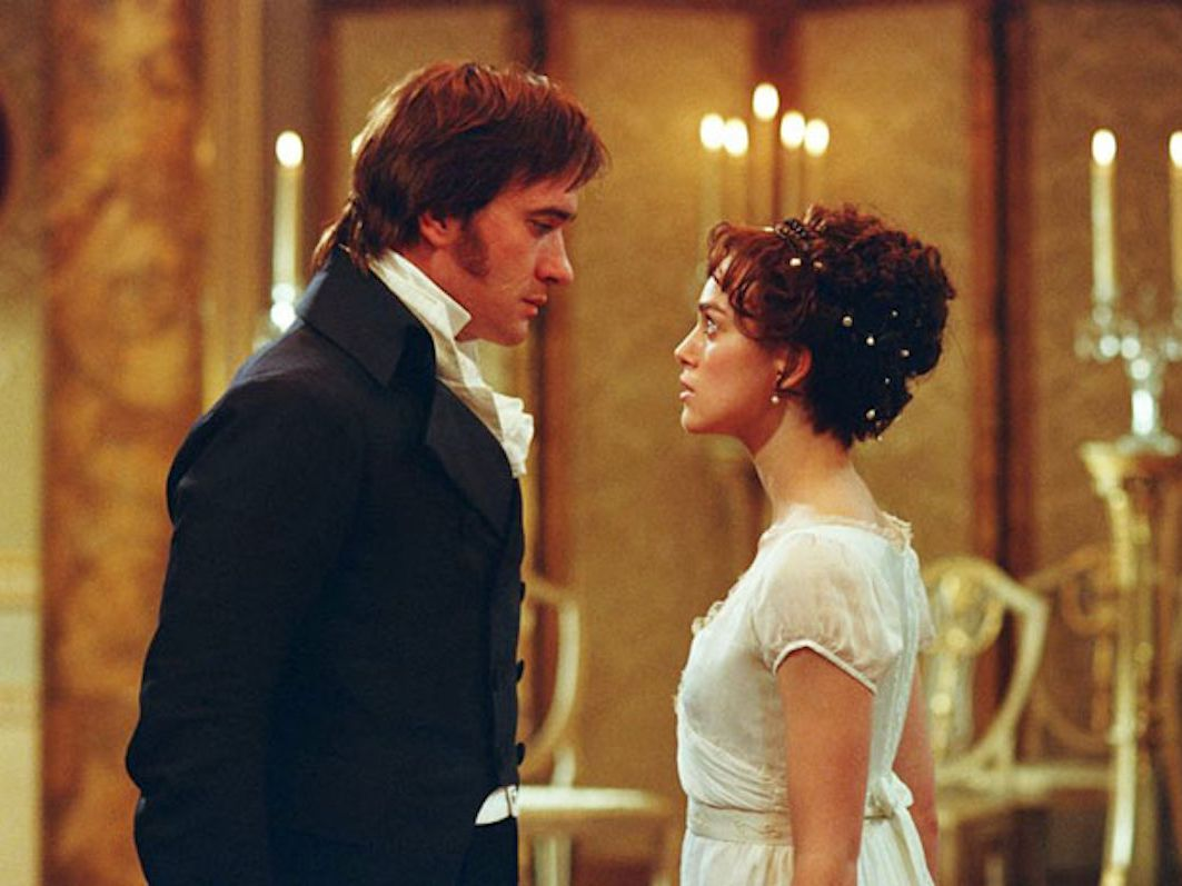 Historical movie costumes, In Pride and Prejudice, Elizabeth's dress as she dances with Darcy doesn't compare to the original.