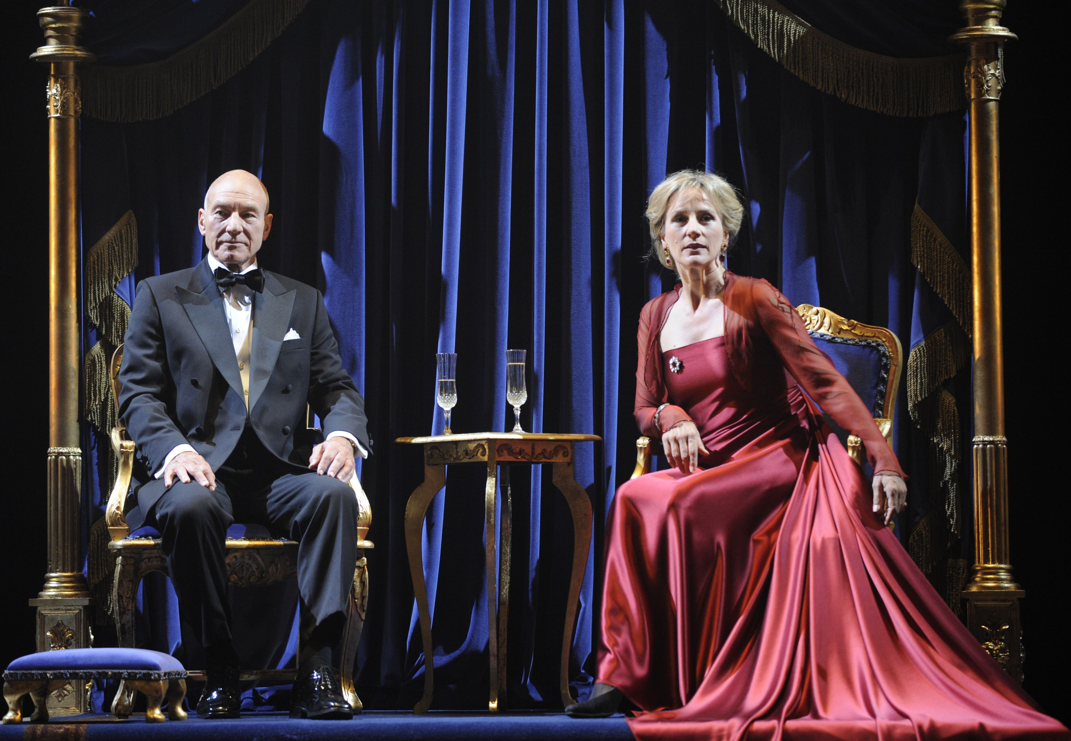 Patrick Stewart and Penny Downie in Shakespeare's play Hamlet.