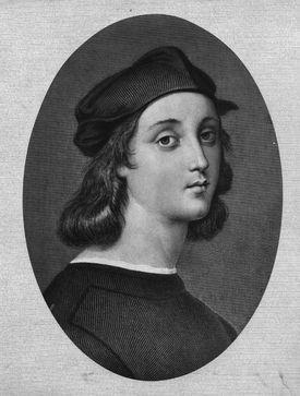 Raphael (1483-1520), Italian painter, Self-portrait, Galleria degli Uffizi, Florence, Italy