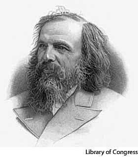 Dmitri Mendeleev (1834 - 1907)