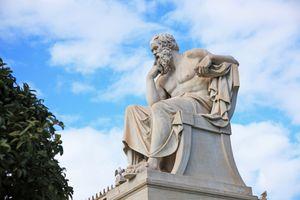 Socrates statue, Athens, Greece