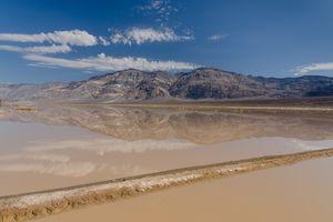 Flash flood near Panamint Butte, Death Valley