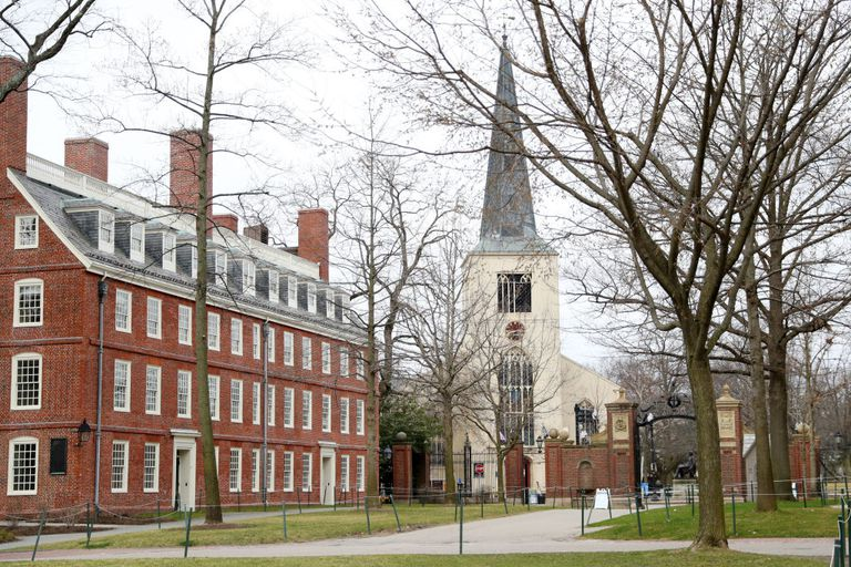 The Harvard University campus on March 23, 2020.