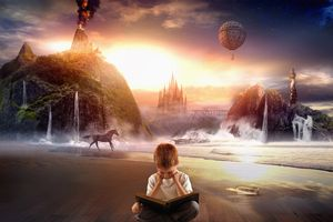 Child reading and imagination