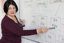 woman teaching French