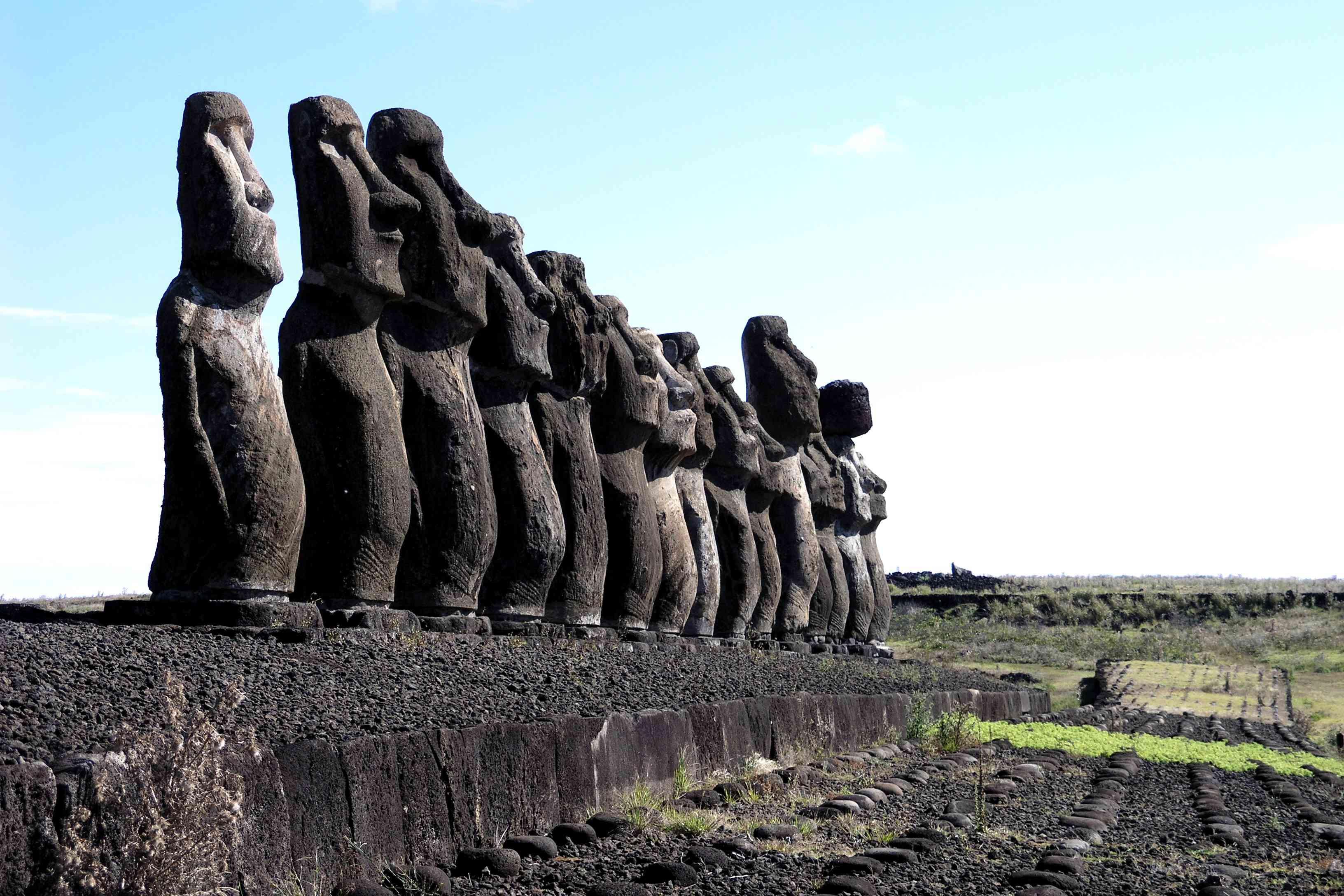 Ahu Tongariki, the largest group of moai on Easter Island