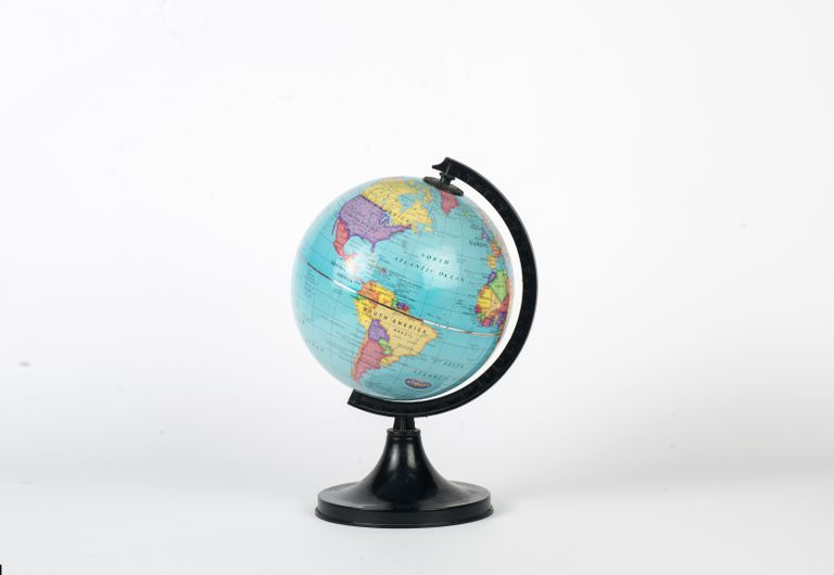 Globe showing America