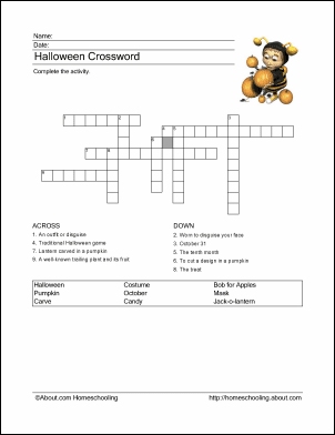 Halloween Printables Wordsearch Crossword Puzzles And More