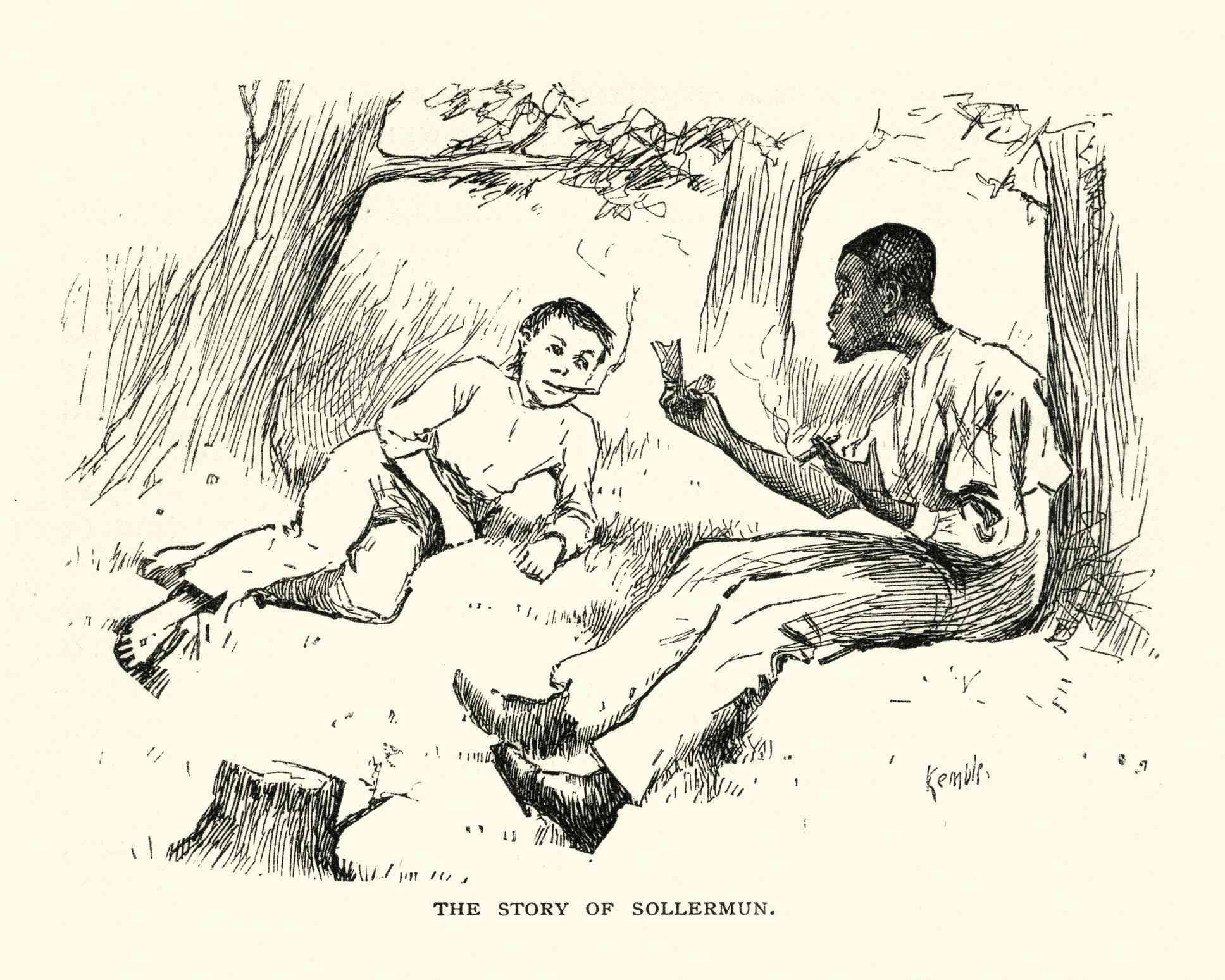 Adventures of Huckleberry Finn, Jim telling the story of Sollermun.