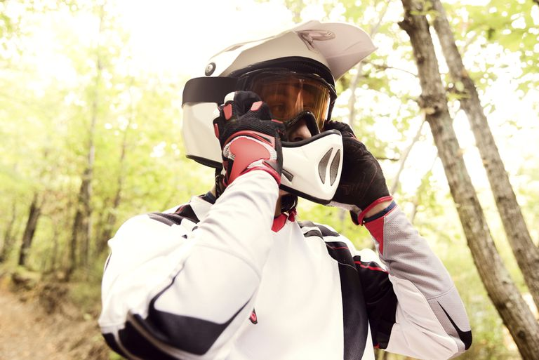 ATV rider in the forest