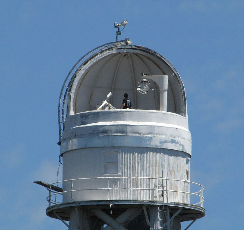 The top of the solar tower on Mount Wilson.