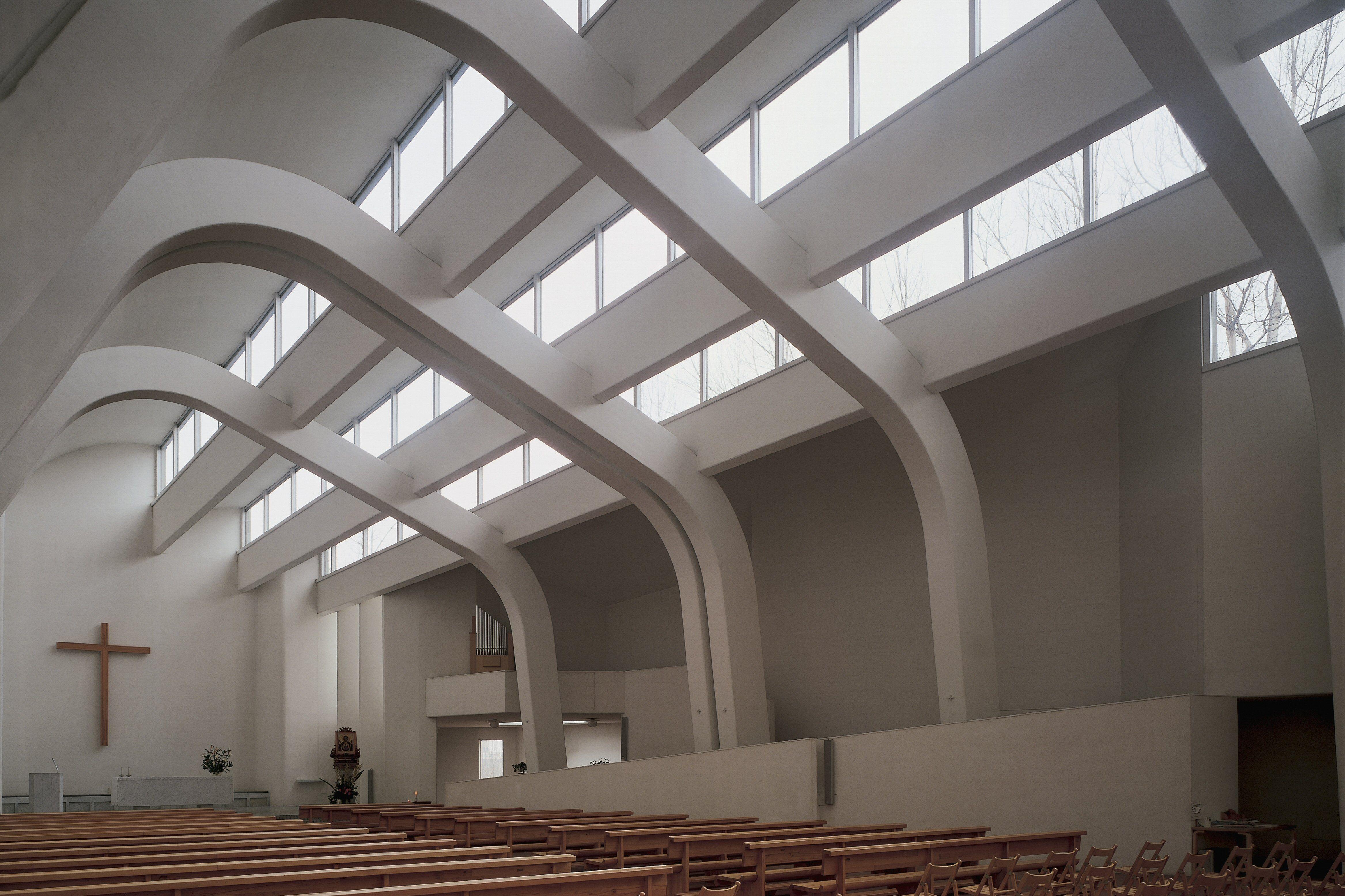 Interior of Church of the Assumption of Mary, Riola di Vergato, Emilia-Romagna, Italy