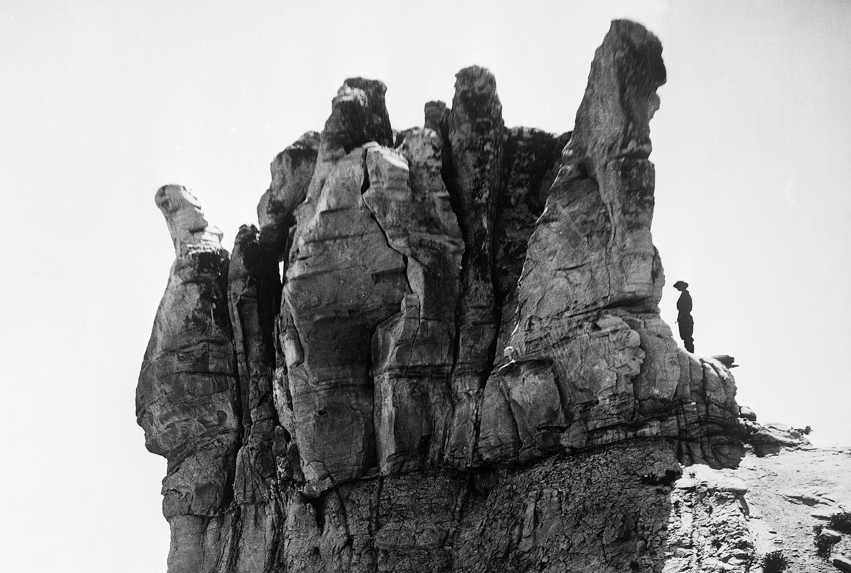Teapot Rock in Wyoming, landmark of the Teapot Dome scandal