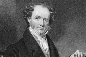 Engraved portrait of President Martin Van Buren
