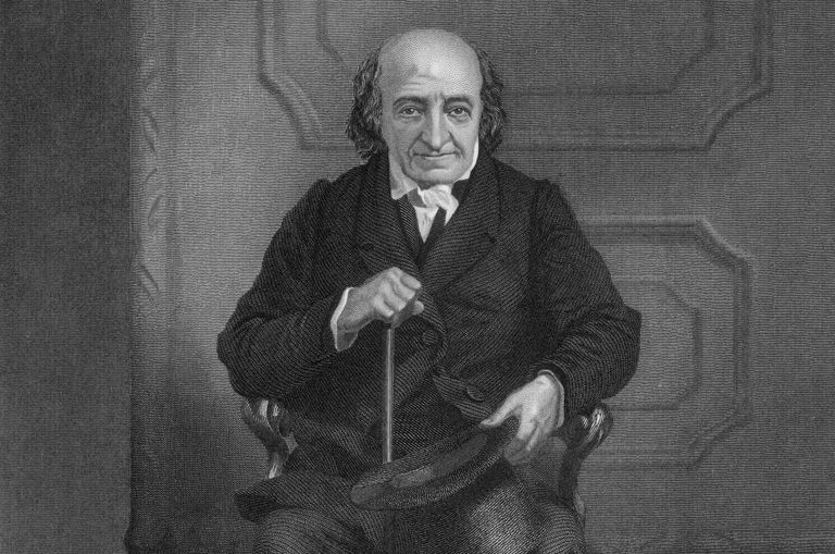 Engraved illustration of Albert Gallatin