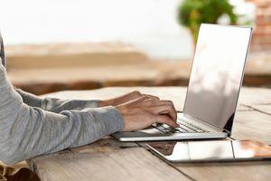 Typing on Mac laptop