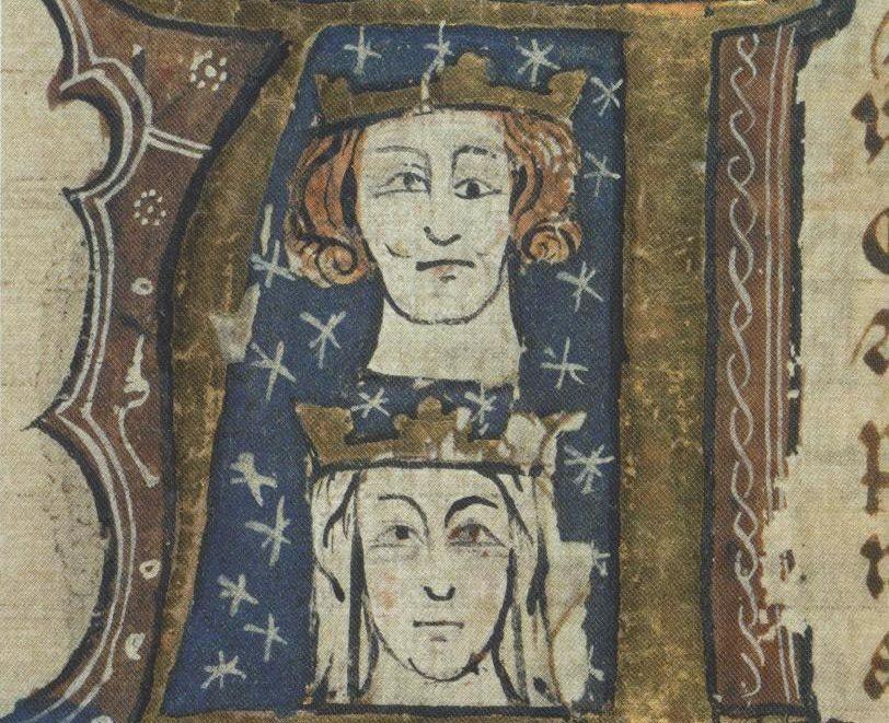 Portraits of Edward I and Eleanor of Castile