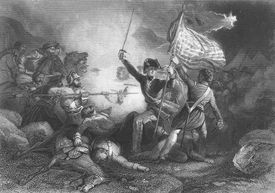 Major Dix at the Battle of Buena Vista, during the Mexican-American War, Mexico, 23rd February 1847
