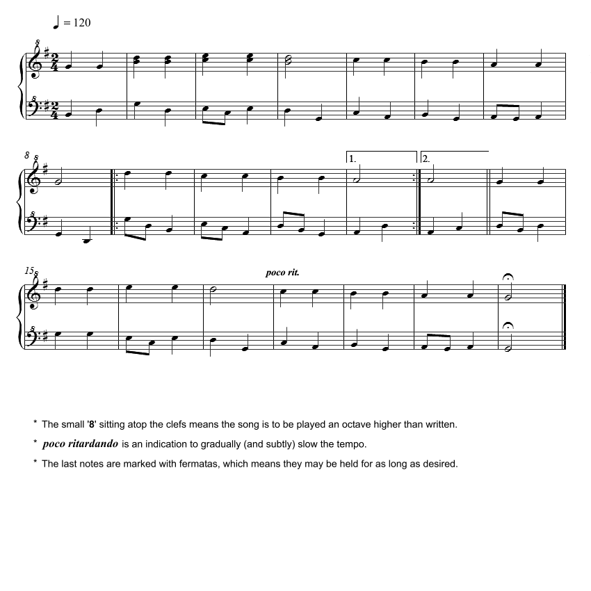 Twinkle Twinkle Little Star Free Sheet Music For Piano: Beginner Piano Lesson Book