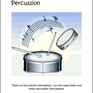 Percussion Instruments Coloring Page