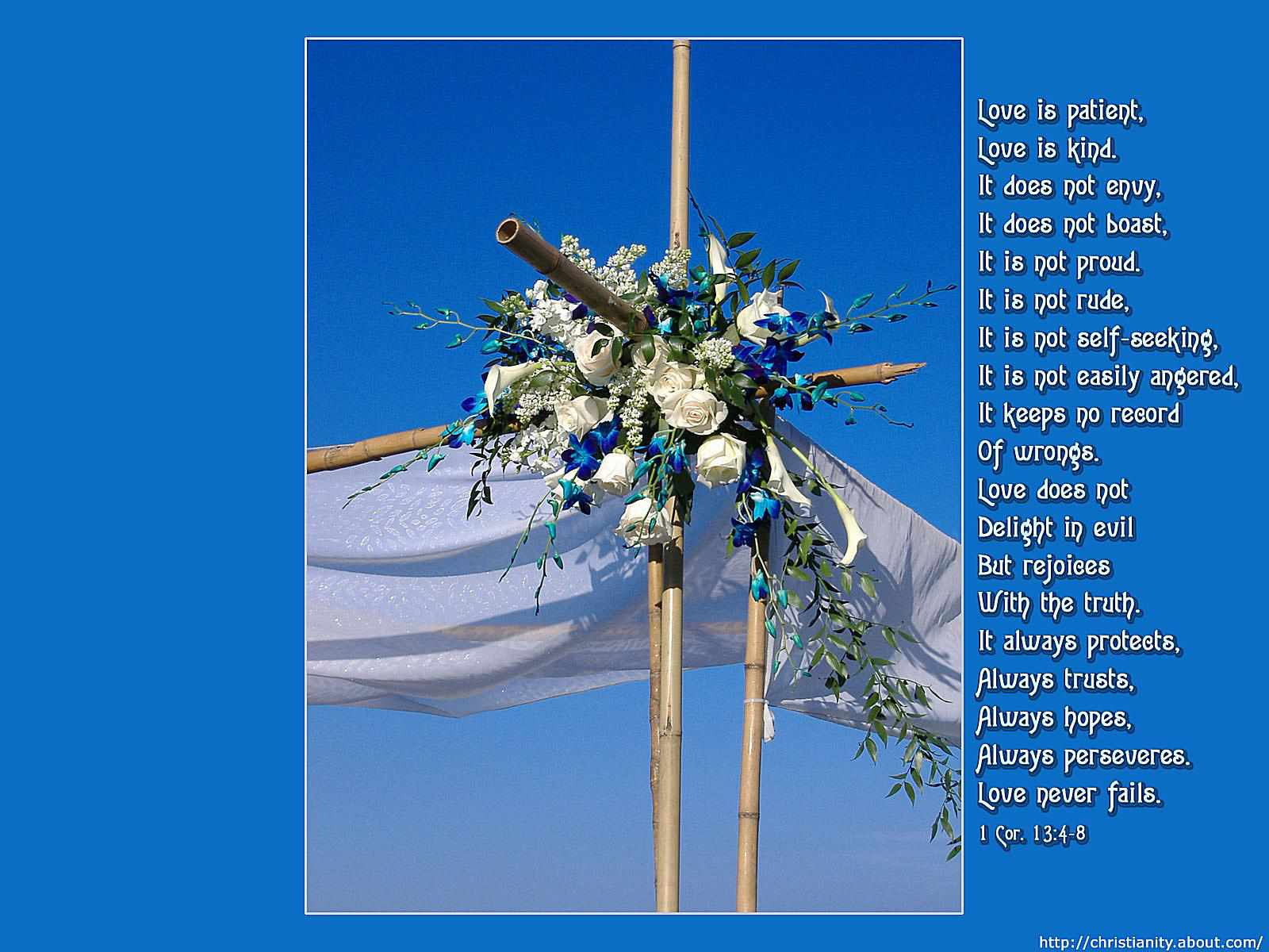 Wedding Reading Love Is Patient: Free Christian Wallpaper With Bible Verses To Download