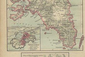 Map of Attica and Thermopylae.