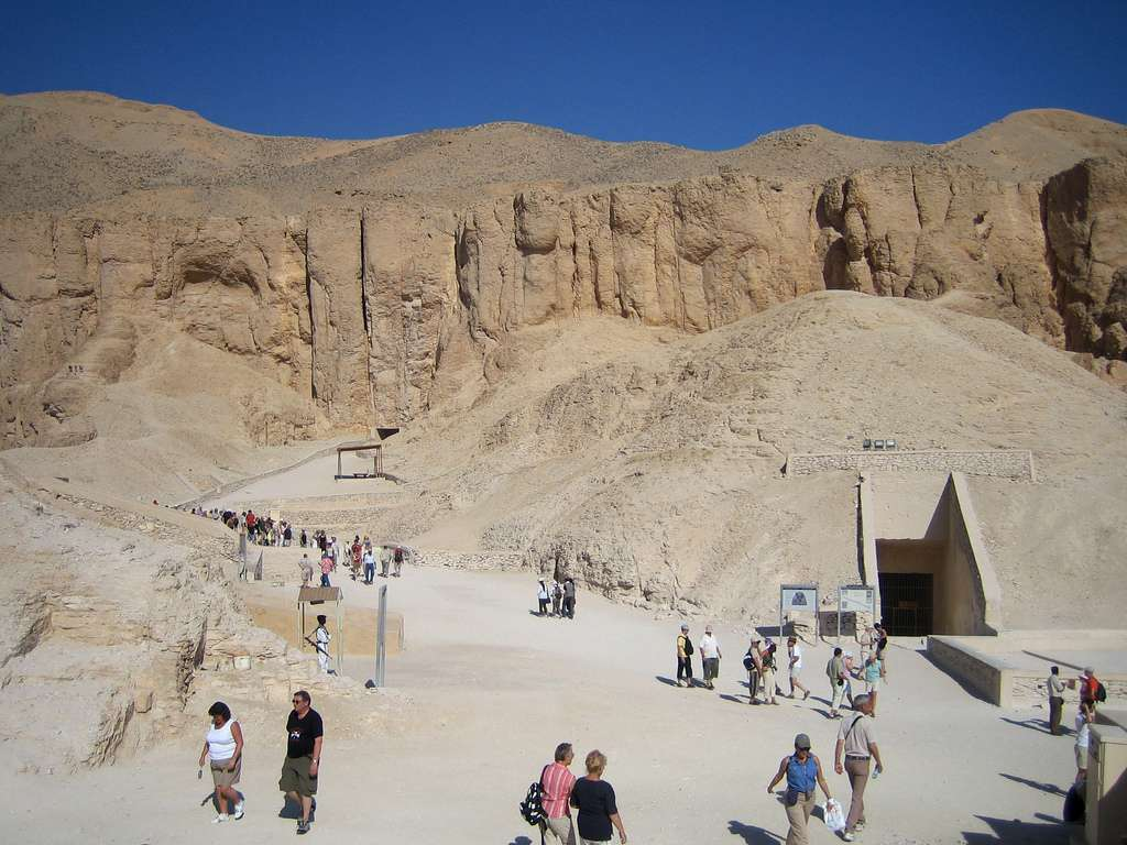 Tomb of Tutankhamun in Valley of the Kings, Luxor, West Bank, Egypt, May 2005