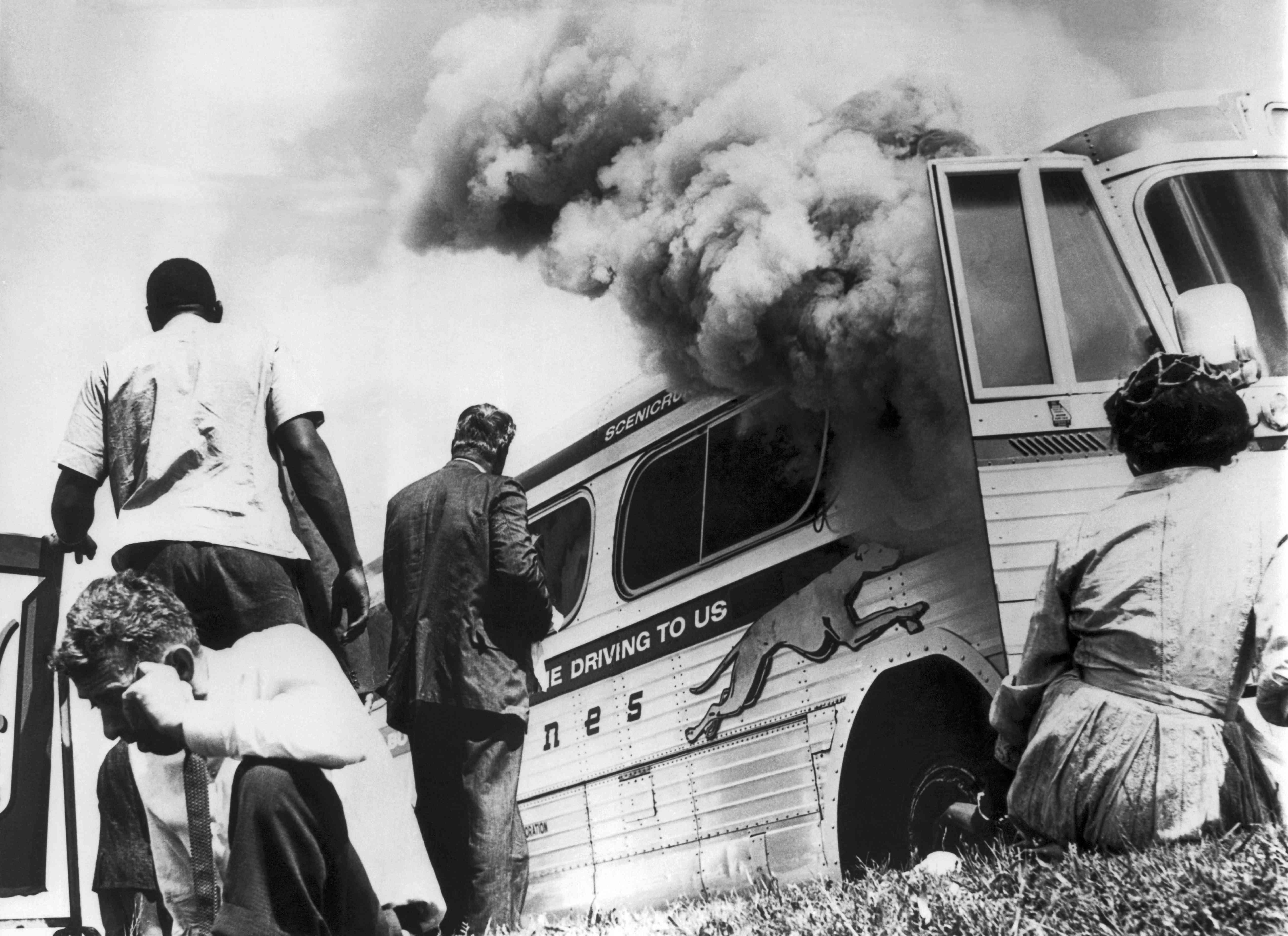 Freedom Riders Burned Bus